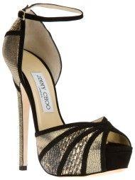 Jimmy Choo Kalpa Sandal in Gold (black)