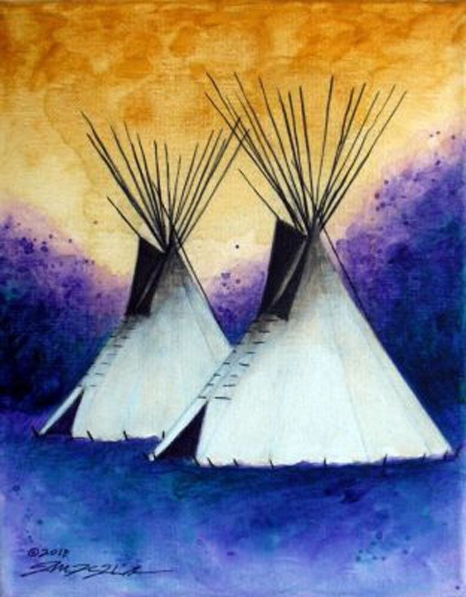 """""""Spring Storm"""" by Allen KnowsHisGun, Native American Artist at Beartooth Gallery Fine Art in Red Lodge, Montana"""