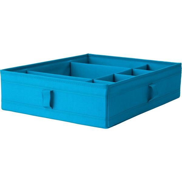 IKEA SKUBB Box with compartments, black ($7.99) ❤ liked on Polyvore