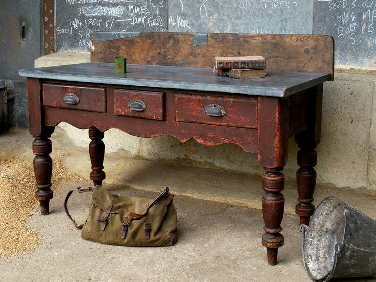 zinc topped furniture - zinc top tables, zinc topped furniture and zinc table tops made to order