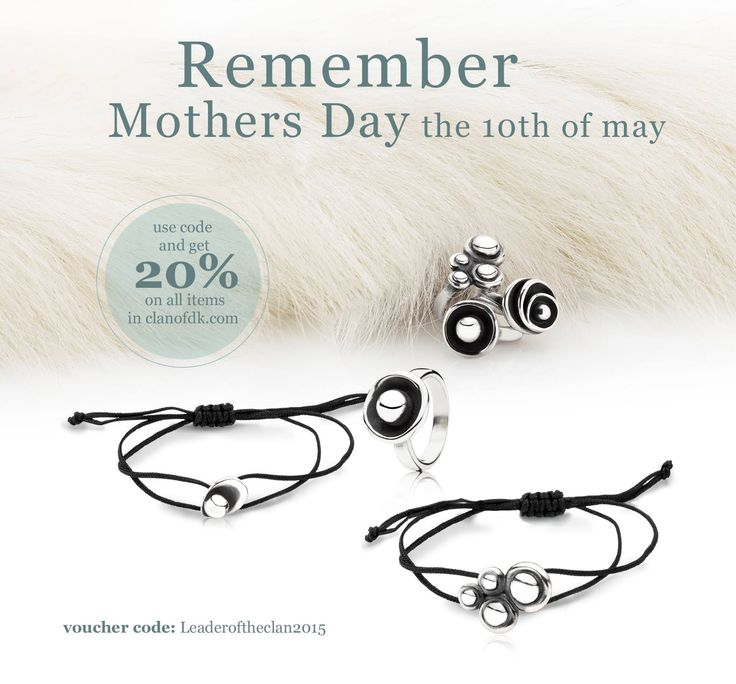 Remember Mothers Day the 10th of May. Clan of dk gives you 20% on all items in clanofdk.com Use this code when purchasing: Leaderoftheclan2015 (we can send the present directly with a personal card. Just write and tell us, in the note box when purchasing, what to write) love from clanofdk.com :-)    #clanofdk #Sterlingsilver #Newnordic