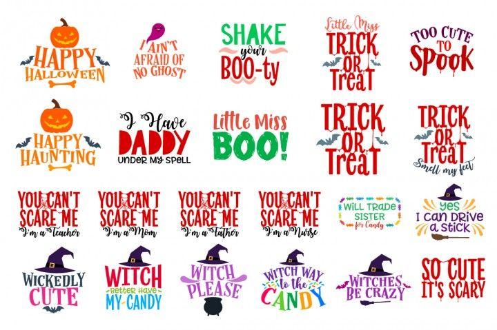 11+ Kawaii Halloween Bundle – Svg Dxf Eps Png Pdf Jpg Ai – Cutting File PNG