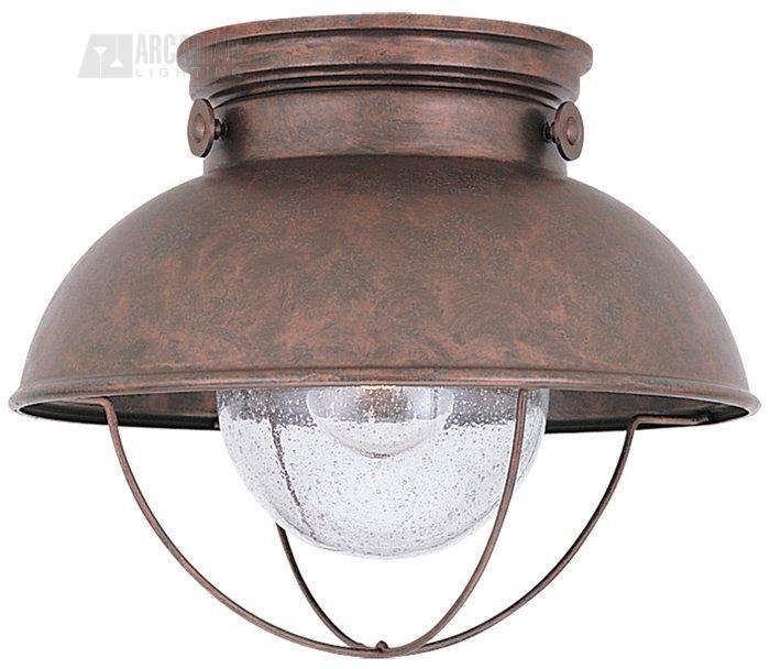 Sea Gull Lighting Sebring Transitional Outdoor Flush Mount Ceiling Light - SG-8869