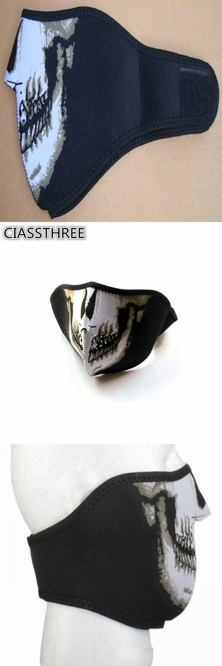 Halloween Skull Skeleton Masks Outdoor Motorcycle Bicycle Multi function Headwear PVC Airsoft Paintball Face Protective Mask