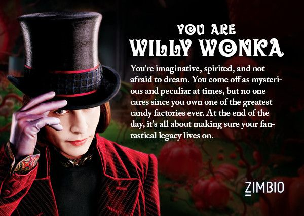 I took Zimbio's Johnny Depp character quiz and I'm Willy Wonka! Who are you?