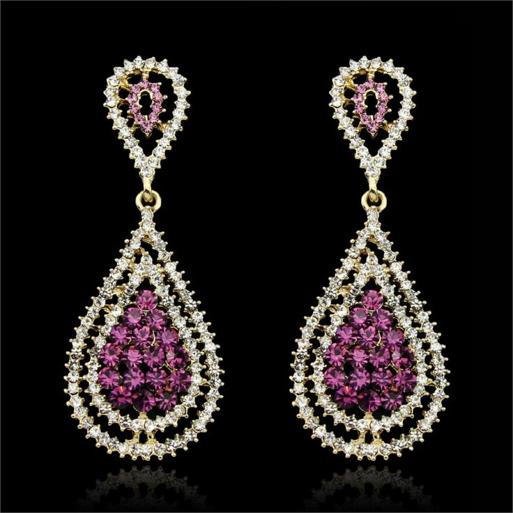 Trova più Orecchini a pendaglio Informazioni su Delicato Hollow Viola Goccia Dell'acqua lunghi Orecchini Per Le Donne del partito e Abiti Da Sposa, Accessori Da Sposa Le Donne, Strass orecchino, Alta Qualità accessories artists, Cina earrings tiger Fornitori, A buon prezzo accessories motocross da Fiona Jin Jewelry Store su Aliexpress.com