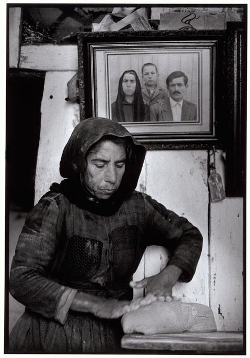 Constantine Manos - Kneading dough. Elounta. Crete. Greece. 1964.
