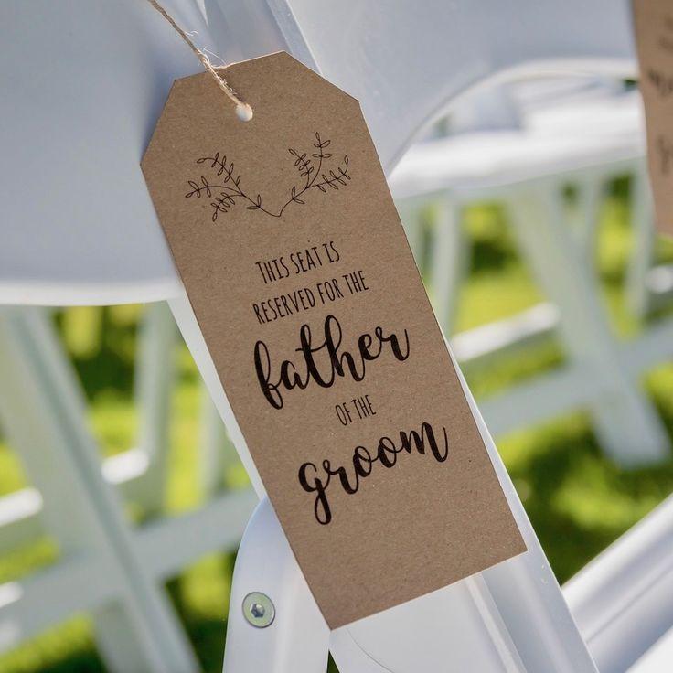 Laat je gasten welkom voelen met deze 'Gereserveerd Tags'! Een gave printable voor gereserveerde plaatsen voor jullie speciale gasten tijdens de ceremonie..