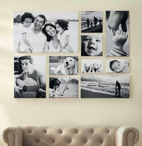 Mit einer Bilderrahmen Collage können Sie kreative Wanddeko selber machen.