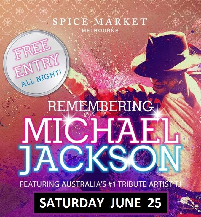 I am doing a special guest performance marking the 7th anniversary of MJ's passing next weekend at Spice Market Melbourne. Come celebrate the life and brilliant music career of MJ with me.