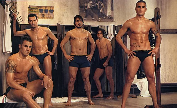 Italian Soccer team...don't think US football team can look this good in Dolce e Gabbana...Viva Italia!!!