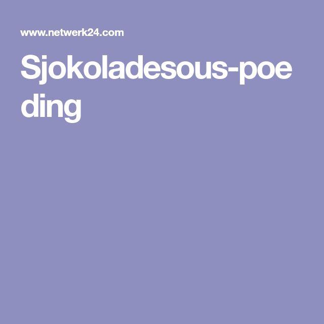 Sjokoladesous-poeding