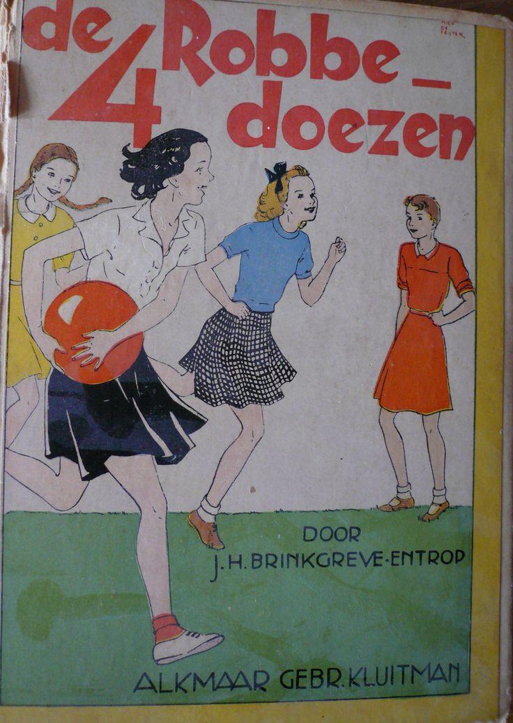 J.H. Brinkgreve-Entrop: 'De 4 robbedoezen'; illustraties: Miep de Feijter; Drukkerij Gebr. Kluitman - Alkmaar.