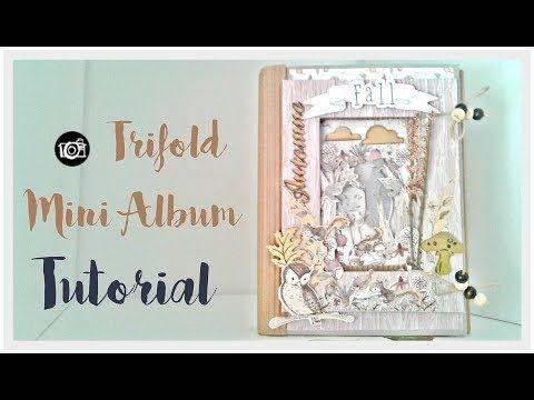 Tutorial mini album TRIFOLD  colaboración con CREAVEA - YouTube