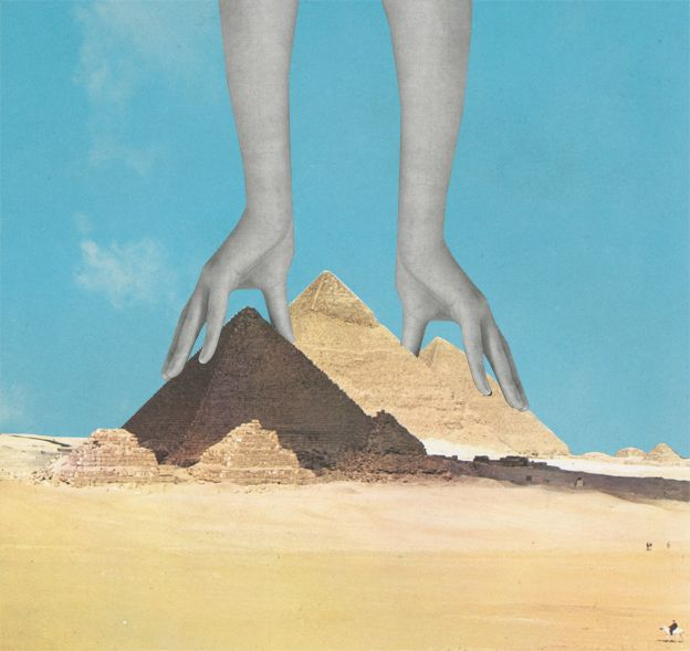 ' The Surprising Truth About How the Pyramids Were Built ' © Sammy Slabbinck 2012 prints via  Society6.com