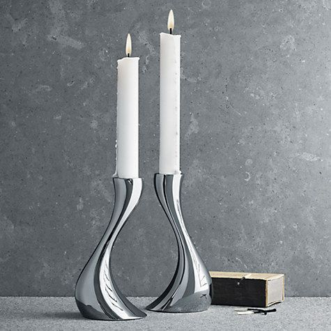 Buy Georg Jensen Cobra Candlestick, Pair Online at johnlewis.com