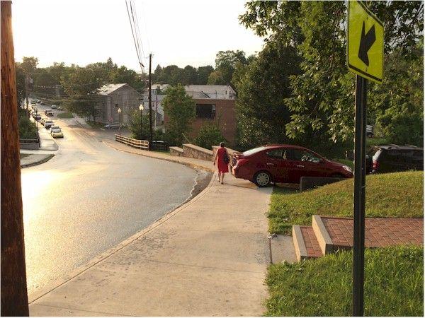 Here I am, walking on the same street Shirley Jackson walked on. The SAME street.