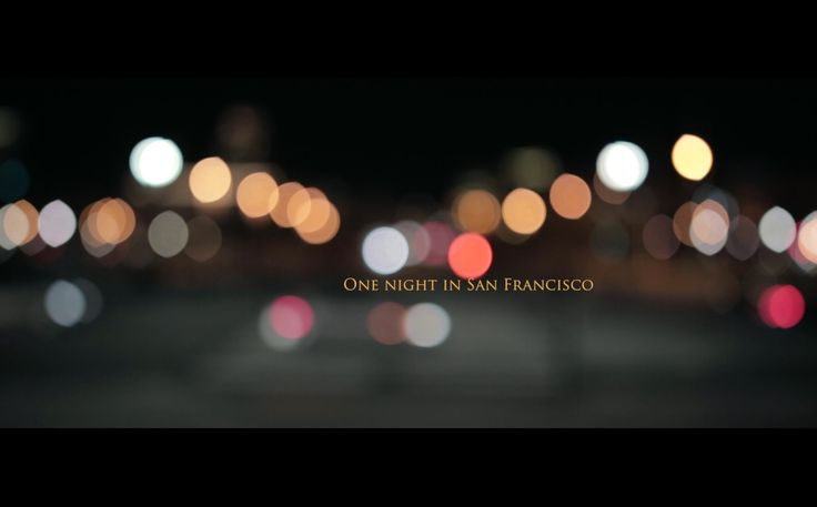 Canon 6D video test in San Francisco by night