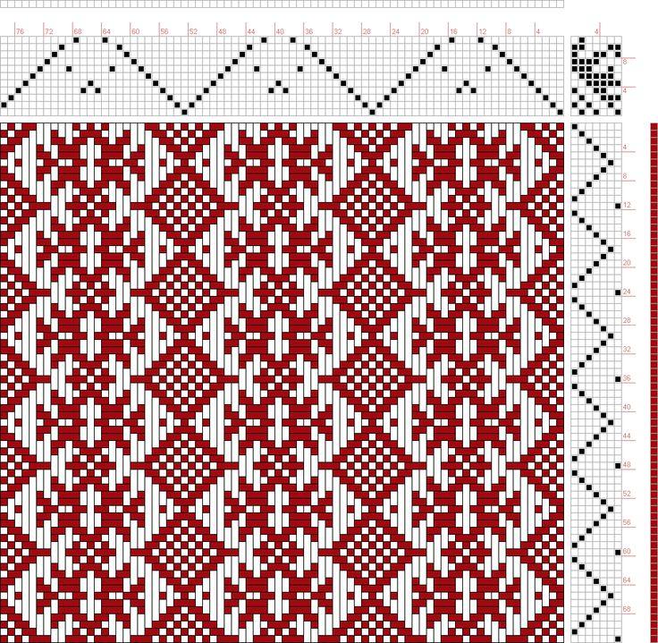 проект изображения: скандинавский узор, Handweaving.net Посетители, 11С, 7т