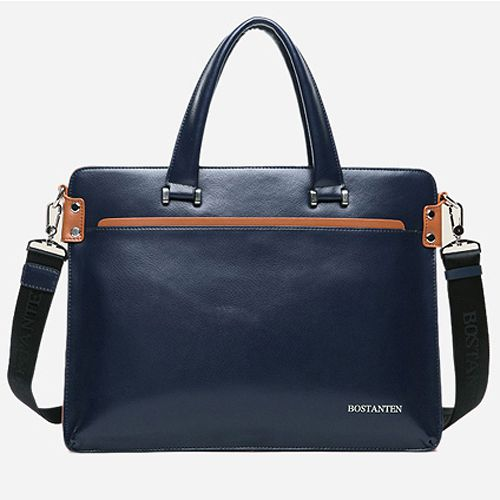 Mens Leather Briefcases Laptop Business Bags for Men Bostanten 10743ChanChanBag