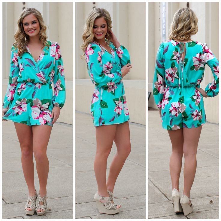 Tiffany Blue Floral Romper | UOIOnline.com: Women's Clothing Boutique