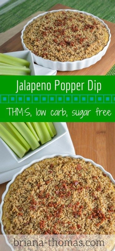 Jalapeno Popper Dip...this is the perfect appetizer to take to a holiday party!  THM:S, low carb, sugar free