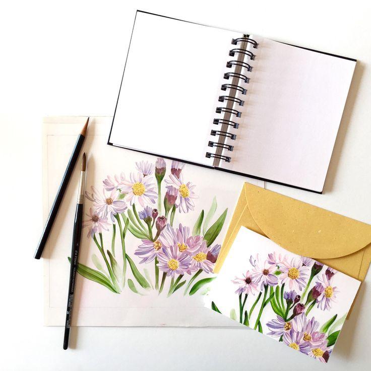 Sta arrivando la primavera e i fiori decorano i miei biglietti per voi...