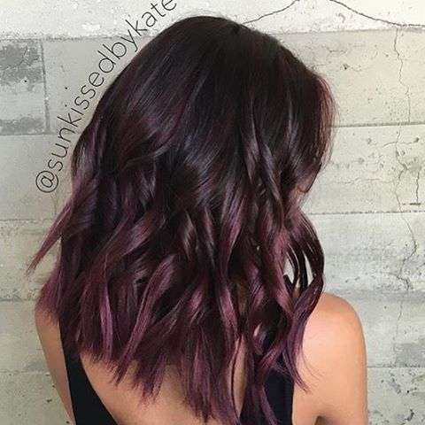 Plum Balayage @sunkissedbykate I like it because it's a subtle purple