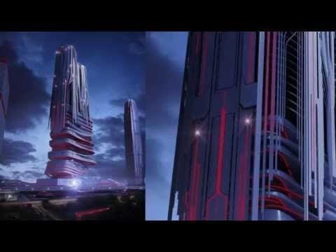 MY.3DMAKINGOFCLOUD — eVolo skyscraper competition 2014 - Dusk scene...