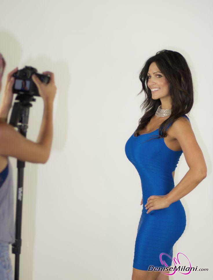 denise milani blue dress - photo #26