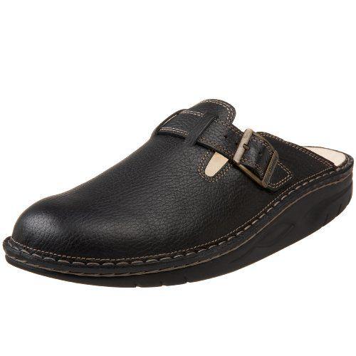 Finn Comfort Men's Weimar Finnamic Clog W/Side Buckle,Black Bison,46 EU / 13 D(M) US Finn Comfort. $239.00. Rubber sole. leather. Fit: True to Size. Save 10% Off!