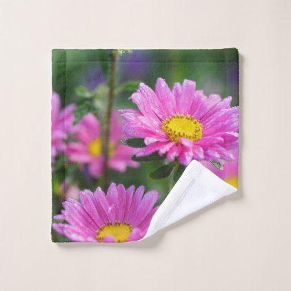 Wash cloth - flowers floral flower design unique style