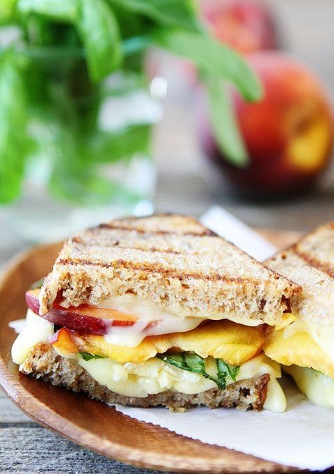 Grilled Peach, Brie and Basil Sandwich - Kirk Market, Cayman Islands - Foodspiration