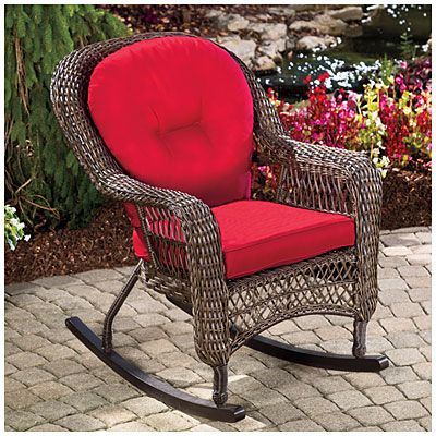 Wilson Amp Fisher 174 Charleston Resin Wicker Cushioned Rocker