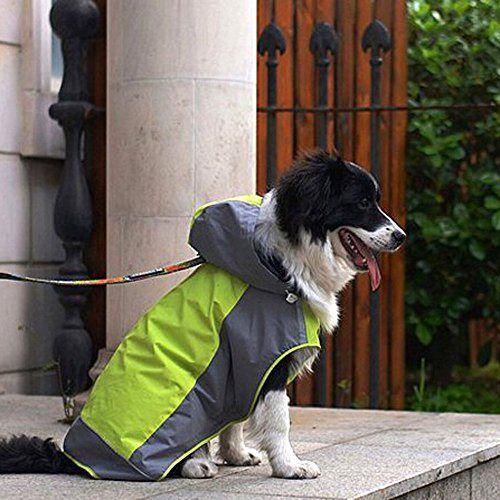 i'Pet® Dog Hooded Rain Slicker Waterproof Jacket Dog Rain Poncho Rain Coat for Medium to Large Dogs for Golden Retriever, Samoyed, Akita, Labrador Retriever, Brittany Spaniel, Huskies, Bulldog, Collie, Schnauzer, Springer Spaniel Breeds (12, Green) - http://www.thepuppy.org/ipet-dog-hooded-rain-slicker-waterproof-jacket-dog-rain-poncho-rain-coat-for-medium-to-large-dogs-for-golden-retriever-samoyed-akita-labrador-retriever-brittany-spaniel-huskies-bulldog/