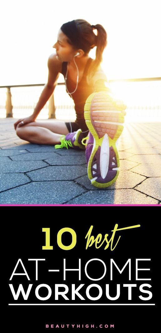 From calming beginners yoga to intense ab exercises, we pulled together the 10 BEST workouts online that can be done at home.   Videos included right in the article— SAVE this list to reference time and time again. #Workout #Diet