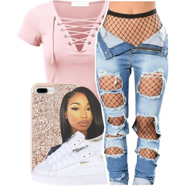 Do U Dirty by queen-vanessa on Polyvore featuring polyvore, fashion, style, Puma, Kate Spade and clothing