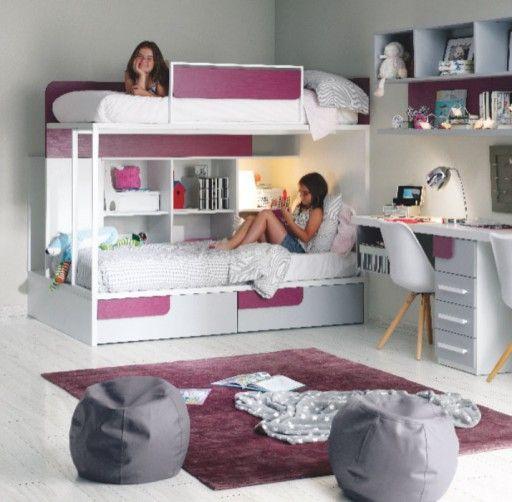 Habitaci n infantil con litera de la colecci n ringo de kibuc dormitorios para ni os y - Literas para habitaciones pequenas ...