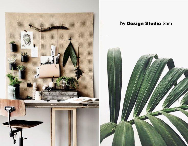 Concept Moodboard II Levendigheid - Groen - Natuur - Interieur II Inspiratie om natuurlijk groen te combineren met je werkplek. Super leuk, en heel eenvoudig! www.designstudiosam.nl