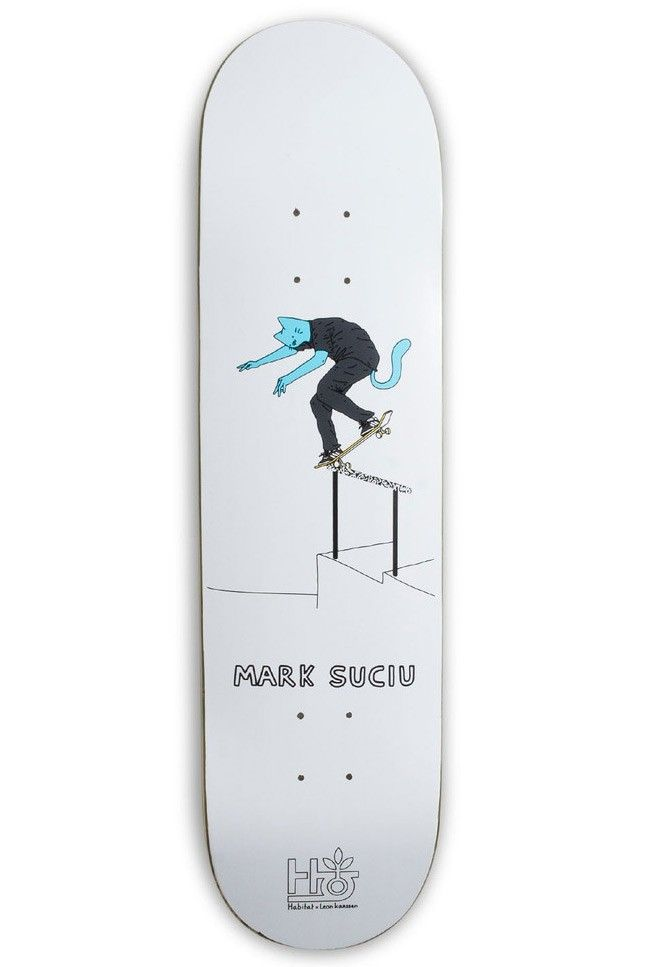 Leon Karssen X Mark Suciu skateboard deck by Habitat.