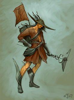Hermes - Deus dos viajantes, mercadores e ladrões.  É magro, tem sobrancelhas arqueadas e um sorriso estampado no rosto. Aparece com uniformes de ginástica ou uniformes de correio. É representado por sandálias aladas. Mensageiro dos deuses.