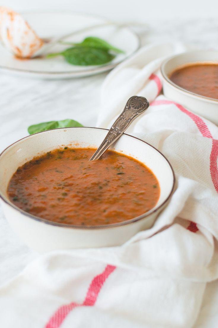 Crème de tomates et épinards