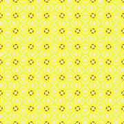 Windmills in Yellow<br />Terrella-Creative<br />pattern seamless geometric shapes lines dots toy windmill circle square triangle diamond pale light dark yellow purple