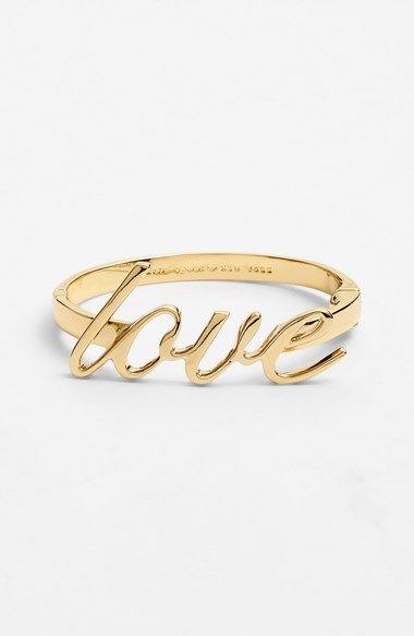 kate spade 'love' bangle