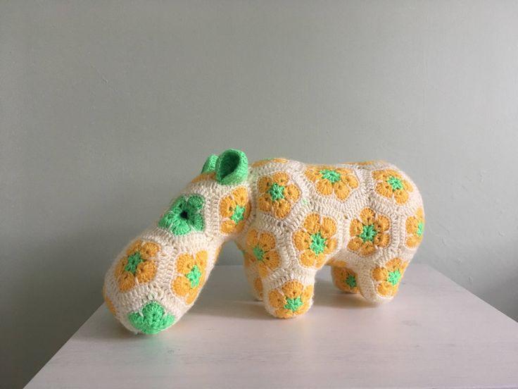 Happypotamus the Leitrim Colours Hippo by AliceRoseHandmade on Etsy https://www.etsy.com/ie/listing/547002223/happypotamus-the-leitrim-colours-hippo