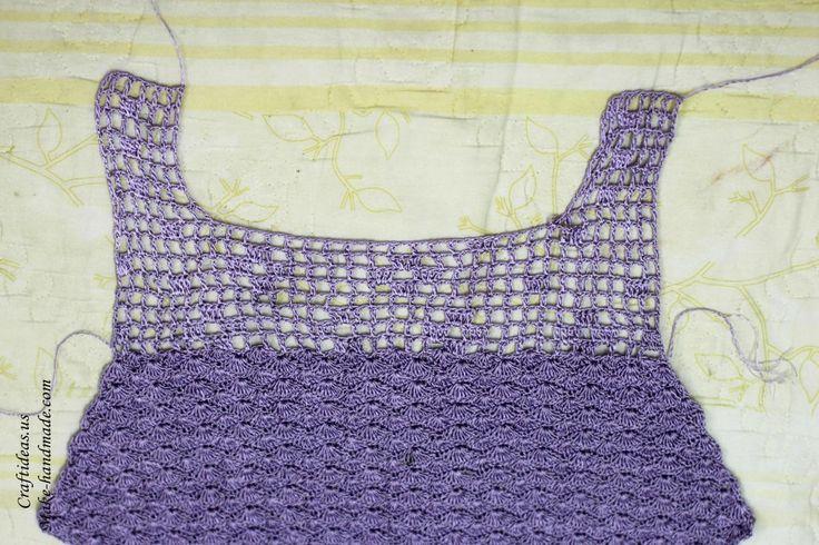 Crochet back part for women dress