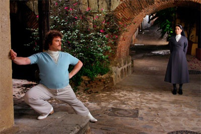 """""""HEY! Can't you see this woman is a NUN!?! And if you've got a problem with that....welll then you can just fight me."""" Hahahahaa, I love Nacho Libre. :')"""