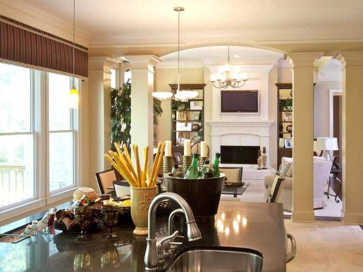 17 best images about arch with columns on pinterest for Dining room designs with pillars