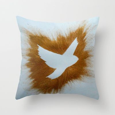 THEPEACEBOMB GOLDE GLITTER Throw Pillow by ThePeaceBombers - $20.00 #art #gold #decor #home #peace #thepeacebomb
