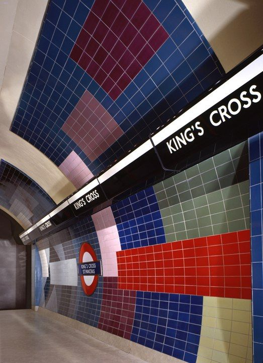 Kings Cross Underground station, London.